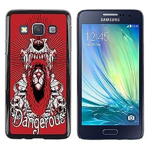Dragon Case - FOR Samsung Galaxy A3 - Warmness is luxury - Caja protectora de pl??stico duro de la cubierta Dise?¡Ào Slim Fit