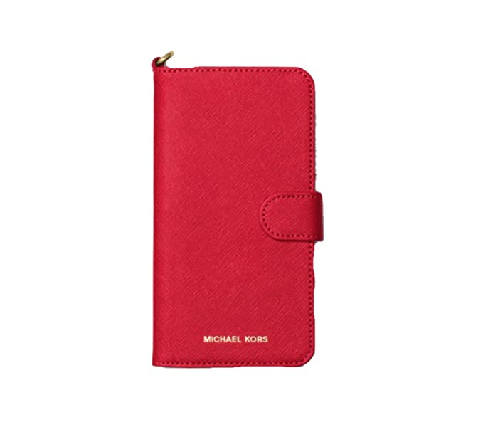 timeless design 93783 8a7b7 Amazon.com: Michael Kors Folio Case For iPhone X, Bright Red: Cell ...
