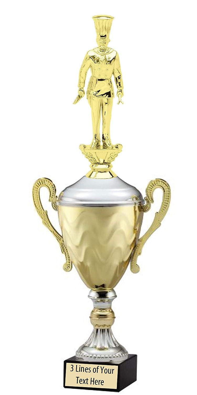 エクスプレス メダル ゴールド 2位 3位 チャンピオン シェフクック メタル トロフィーカップ 刻印プレート付き B07KNGZ9QF