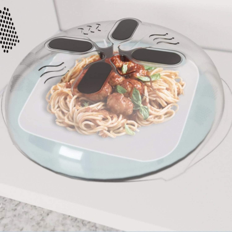 Magnet Food Splatter Guard Microwave Hover Anti-Sputtering Cover With Steam Vents Magnetic Splatter Lid Heat Resistant