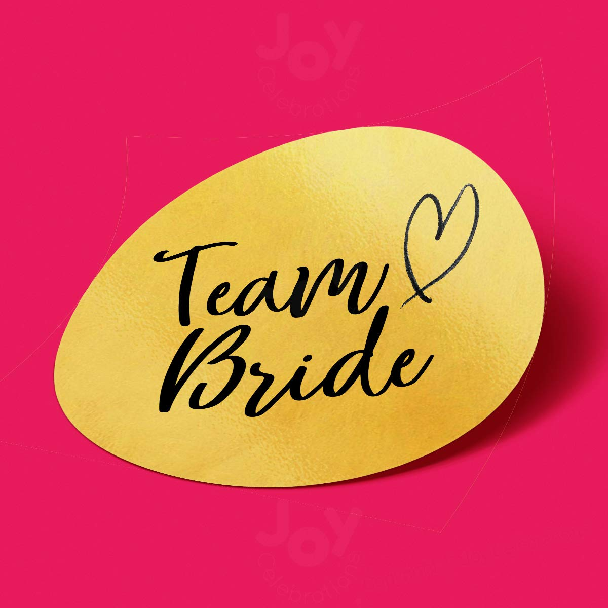 Miss To Mrs /® JC2003 Team Bride Hen Do Party Gold Stickers Favour Goody