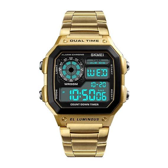 Hemobllo Reloj Deportivo para Hombres Moda Reloj Impermeable Reloj Digital para Exteriores Reloj para Hombres (