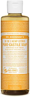product image for Dr. Bronner's - Pure-Castile Liquid Soap (Citrus, 8 ounce) - Made with Organic Oils, 18-in-1 Uses: Face, Body, Hair, Laundry, Pets and Dishes, Concentrated, Vegan, Non-GMO