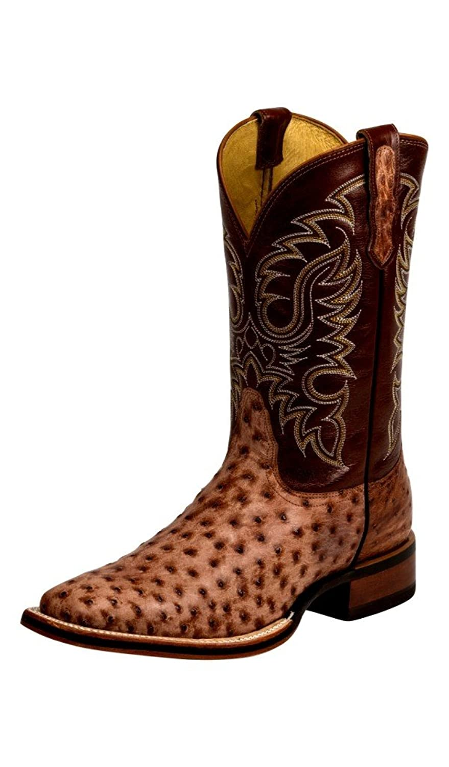 Nocona Men's Brandy Tumbled Full Quill Ostrich Boots