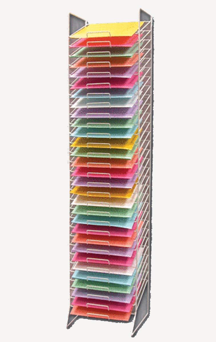 Scrapbook Paper Rack Tower White Organizer Storage Display 30-slot -12