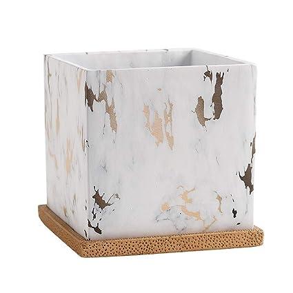 Amazon.com: Faturt - Maceta cuadrada de cemento creativa y ...