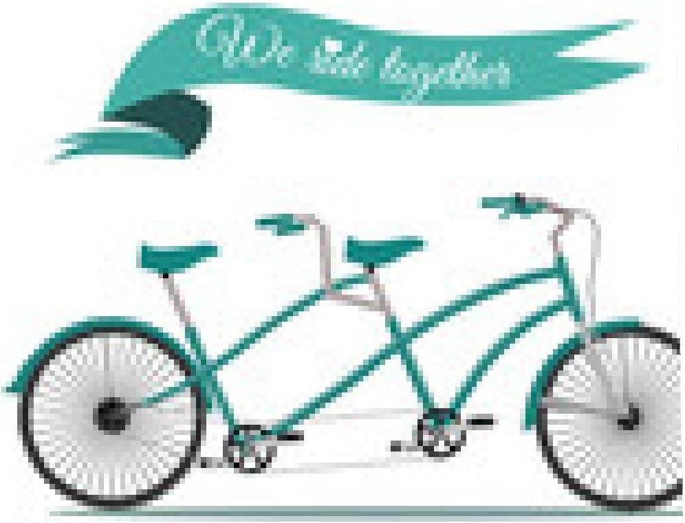 my-puzzle-design alfombrilla de ratón Viajan juntos. bicicleta en ...