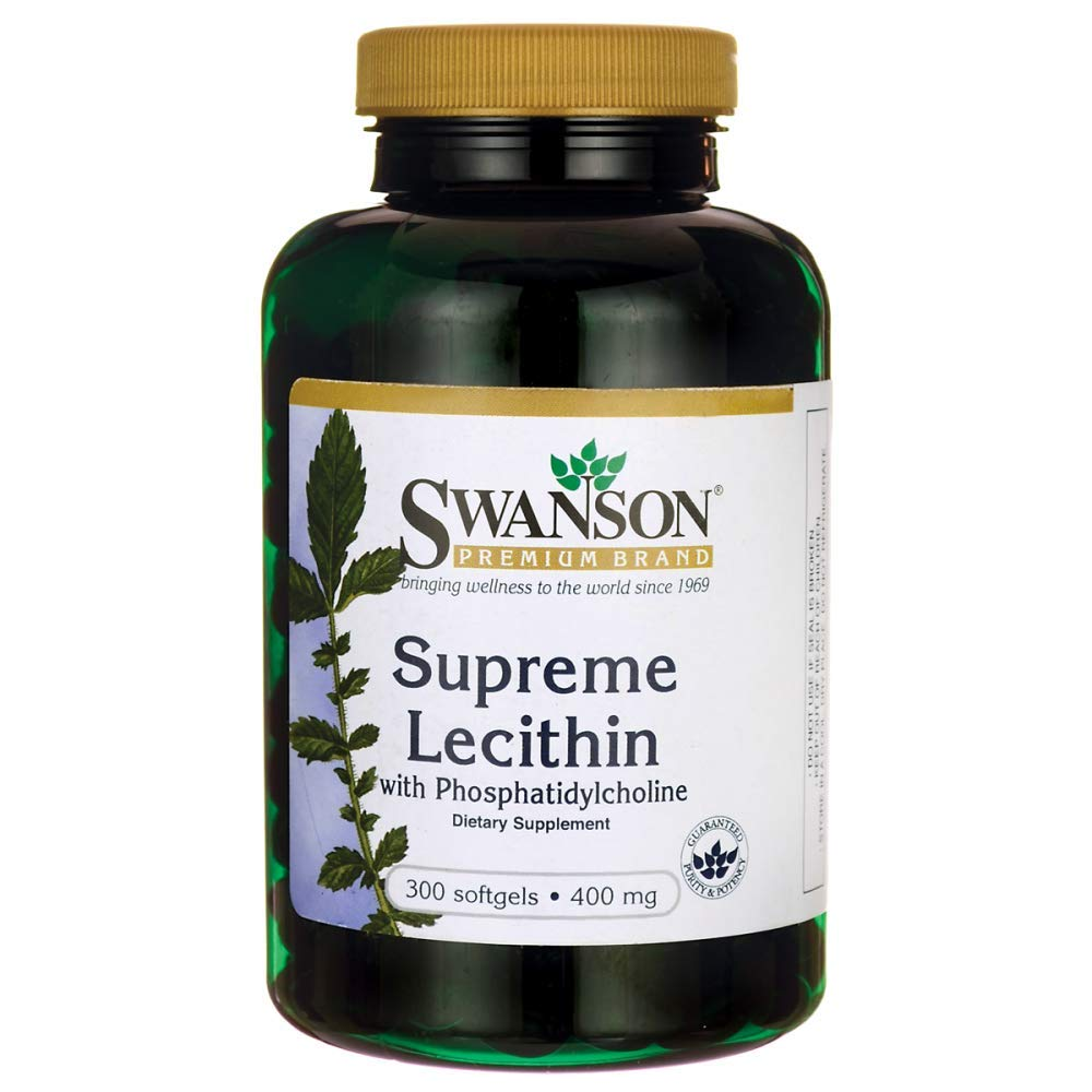 Swanson Supreme Lecithin with Phosphatidylcholine 300 Sgels by Swanson