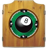 Trademark Gameroom 8 Ball Wood Dart Cabinet Set