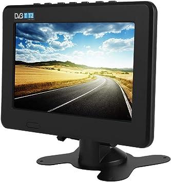 Heayzoki TV Digital portátil, DVB-T2 Alta sensibilidad TV Digital para automóvil Estéreo Que rodea 1080P Televisión para automóvil, para automóvil, Caravana, Camping, al Aire Libre, Cocina(7in): Amazon.es: Electrónica