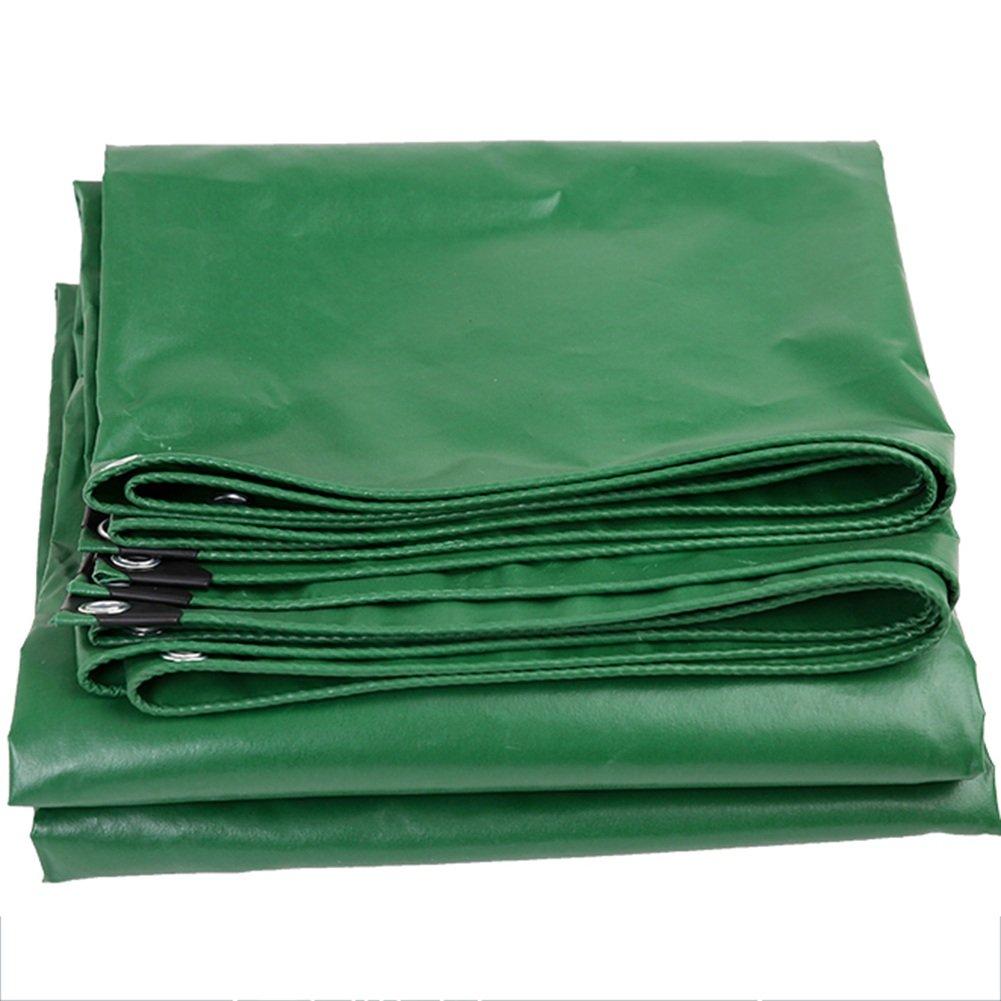 CHAOXIANG ターポリン キャノピー 日焼け止め リノリウム 耐摩耗性 ボタンホール 厚い PVC、 450G/㎡、 14サイズ (色 : Green, サイズ さいず : 1.9x1.9m) B07FZ4LGRC 1.9x1.9m|Green Green 1.9x1.9m