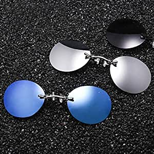 162b601e25da Amazon.com: YULong Clip Nose Sunglasses Men Round Glasses Matrix ...
