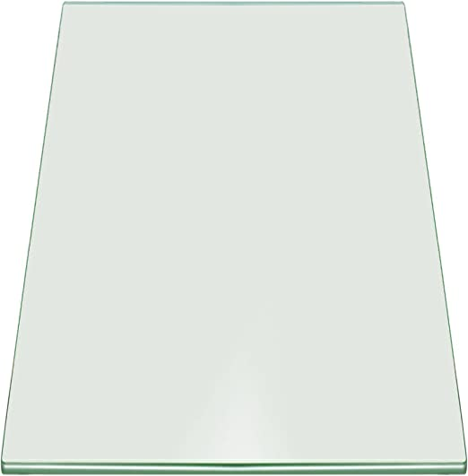 Square Tempered Glass with 3//16 Inch Thick 12 Inch x 12 Inch