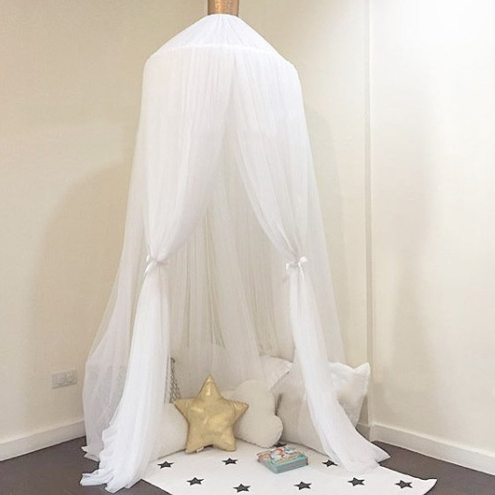 - Kuuboo Children Bed Canopy, Nursery Decorations, Kids Dome Cotton