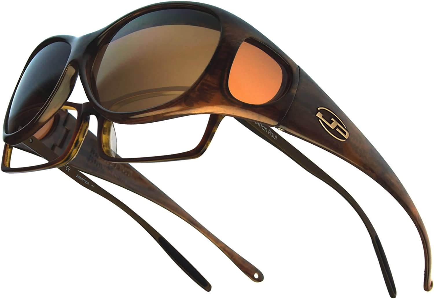 brushed horn, Amber Fitovers Eyewear Lotus Sunglasses