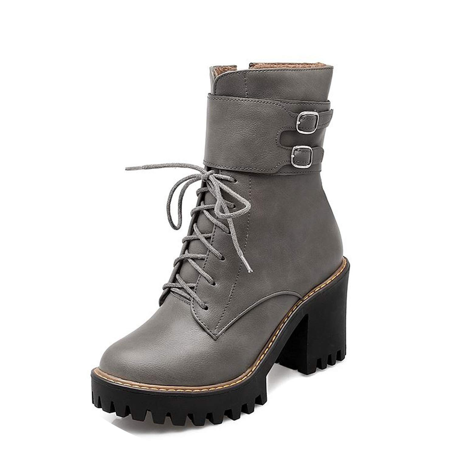 Fashion Boots Women 2018 Autumn Winter Buckle Ladies Shoes lace up Ankle Boots for Women