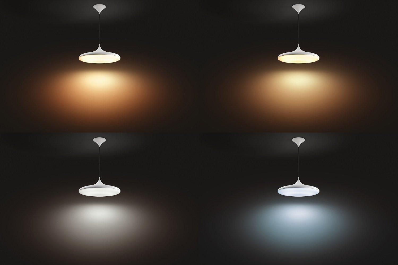 Fonctionne avec Alexa Lampe Led Connect/ée Philips Hue Cher/Suspension Luminaire Blanche White Ambiance 39/W Compatible avec Apple Homekit Interrupteur avec Variateur Inclus