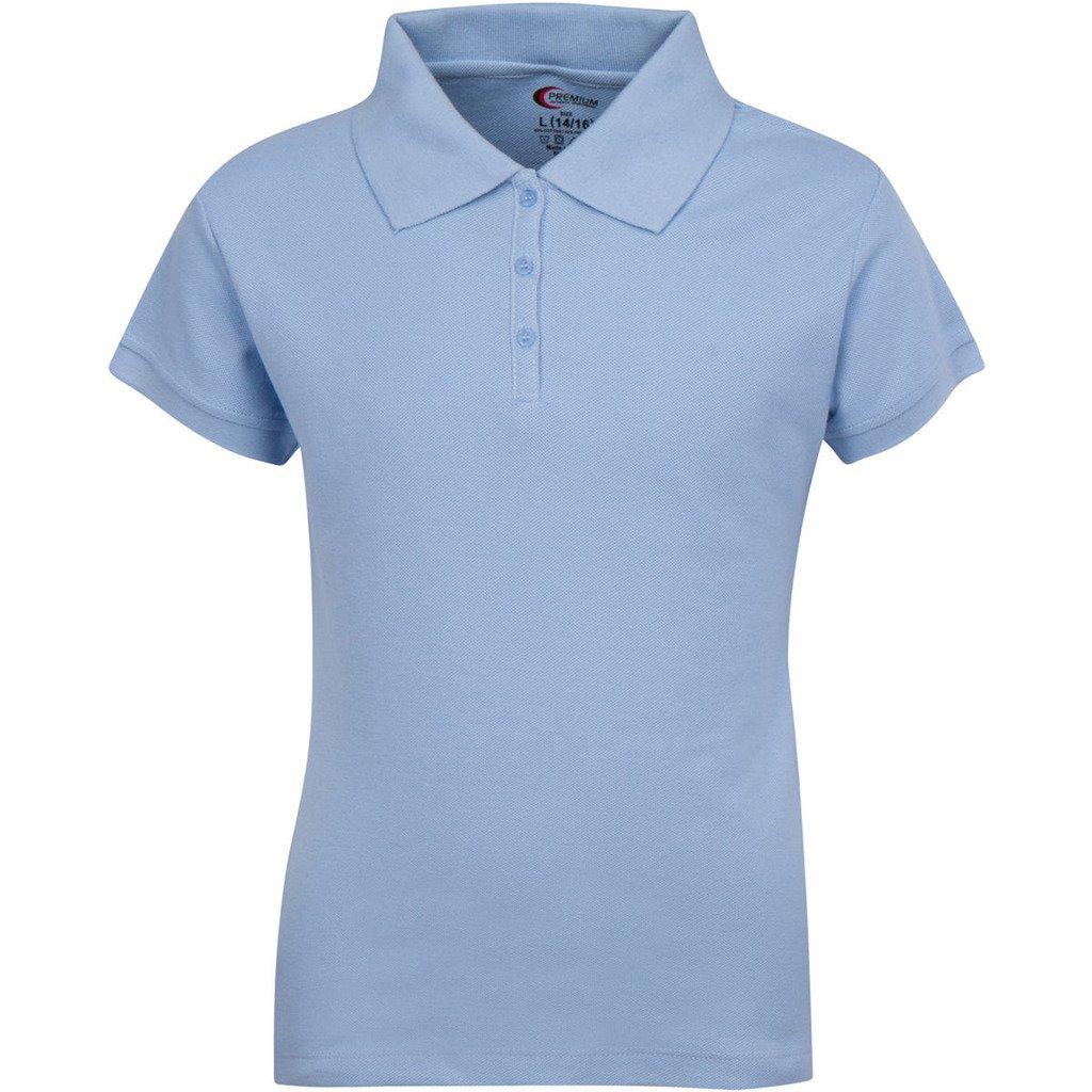 Premium Short Sleeves Junior Polo Shirts Light Blue 3X