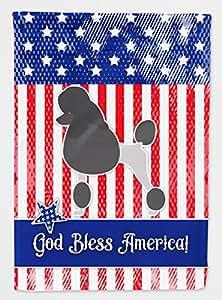 Caroline tesoros bb3339chf de lona casa tamaño Estados Unidos patrióticos caniche bandera, Multicolor, Large