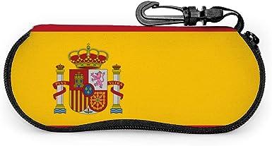 LSDIBAWL Bandera de España - Funda blanda para gafas de sol con cierre y clip para cinturón: Amazon.es: Ropa y accesorios