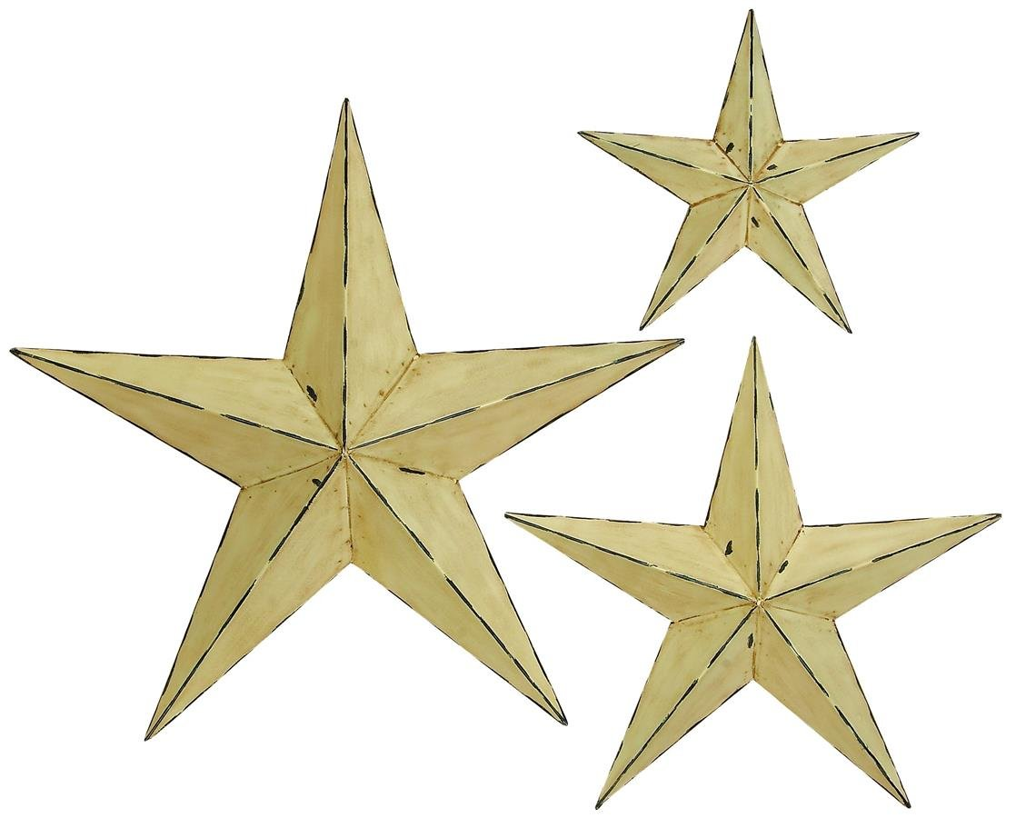 Amazon.com: Deco 79 75685 Metal Wall Star (Set of 3), 24\