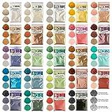 Mica powder – Soap Making Kit – Powdered Pigments Set – Soap making dye – 50 coloring - Hand Soap Making Supplies - Resin Dye - Mica Powder Organic for Soap Molds