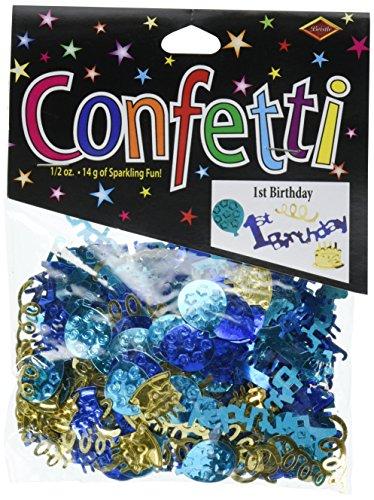 Beistle CN059 1st Birthday Confetti