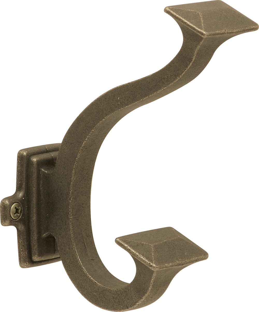 Hickory Hardware Bungalow Hook - Windover Antique (P2155-WOA)