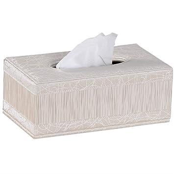 Caja de pañuelos de cuero para el coche Caja de pañuelos nobles antiguos Decoración del hogar Almacenamiento de pañuelos de papel Regalo de boda: Amazon.es: Salud y cuidado personal