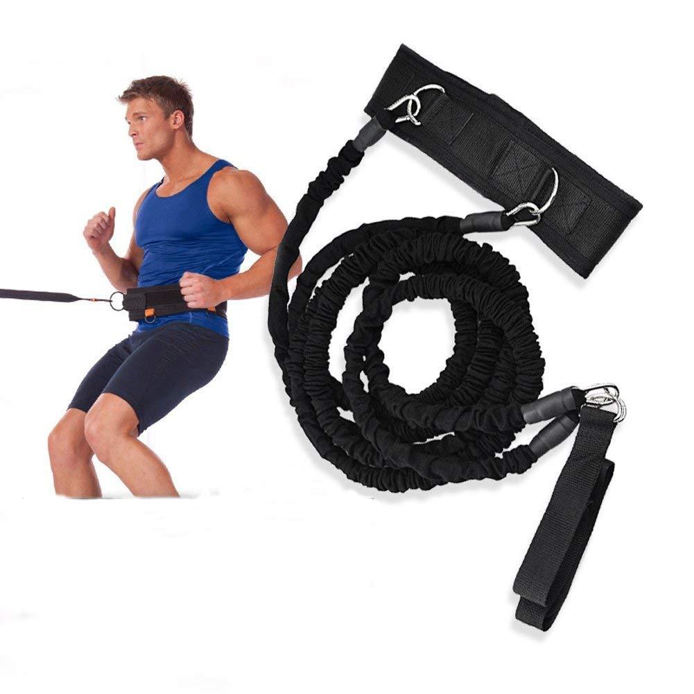 YNXing Cuerda de entrenamiento de látex, elástica, para piernas y cintura, ideal para parques al aire libre, cancha de baloncesto, 2 o 3 m de longitud, ...