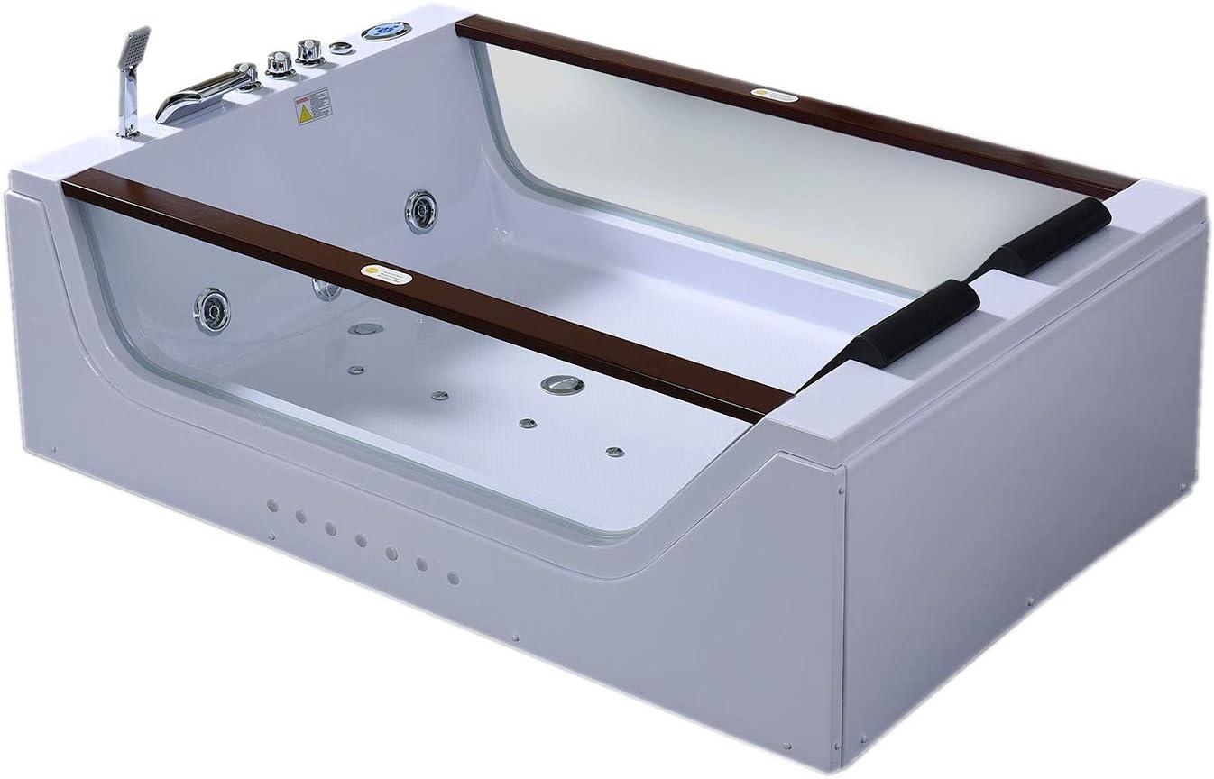 Bañera hidromasaje Bañera de Esquina Terapia luz de colore POSITANO 180x120cm