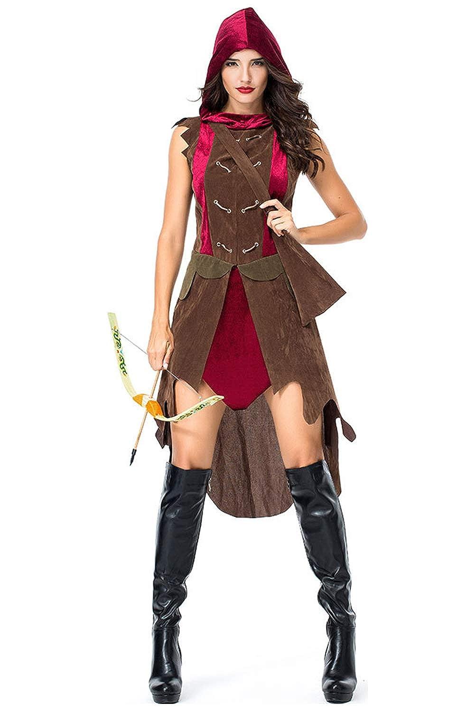 beckyring Disfraz de arquero para adulto, disfraz de cazador ...