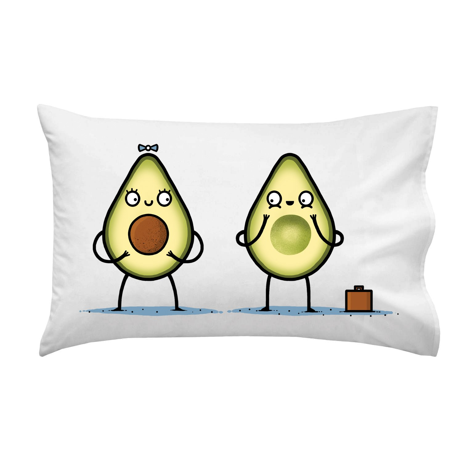Hat Shark Avocado Baby Fruit & Seed Couple Humor - Pillow Case Single Pillowcase