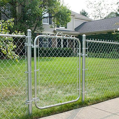 MTB Galvanized Chain Link Garden Walking Fence Gate 48-inch Overall Height by 32-inch Frame Width (Fit a 36-inch Opening), 2 Pack,Walk Through Farm Gate
