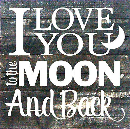 "Artistic Reflections Pallet Art RE1035b I Love You to the Moon and Back, 10.5"" x 10.5"", Multicolored from Artistic Reflections"