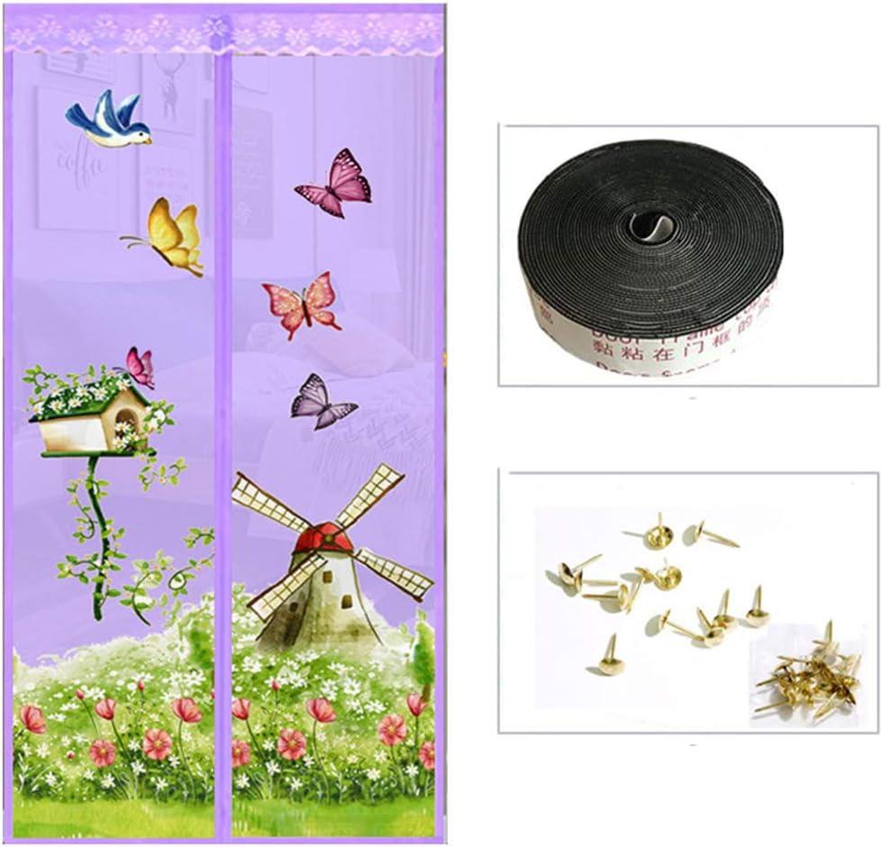 RZZX Mariposa cometa encriptación mosquito cortina Puerta de mosquitera magnética Hilo suave autocebante silencioso de verano Cortina de puerta de pantalla segmentada Fácil de instalar Dormitorio en c: Amazon.es: Bricolaje y herramientas