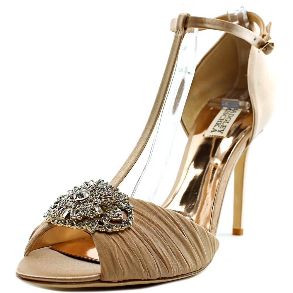 Badgley Mischka Women's Darling Dress Sandal, Latte, 8.5 M US by Badgley Mischka