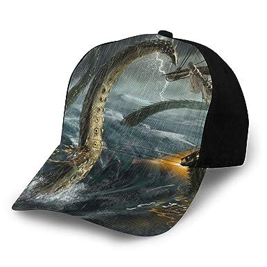 Gorra de béisbol Sea Monster Boat Rainstorm de algodón para ...