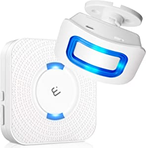 Motion Detector Alarm, ELEPOWSTAR Motion Sensor Detect Alert, Home Security System Detection Wireless Doorbell with Working Range 500ft (150m) for Houses, Shops, Offices, Factories