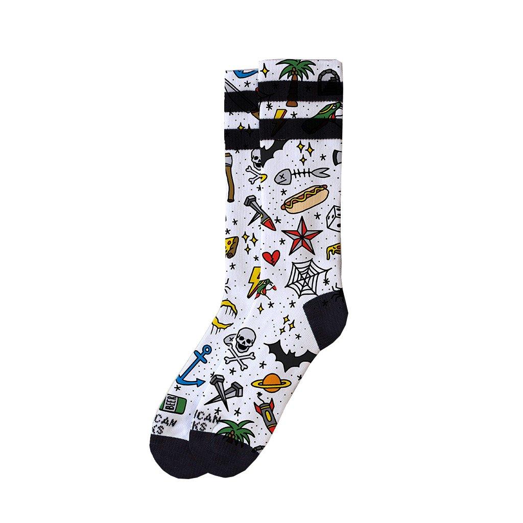 American Socks Rosey Jones Tattoo Boy Mid High Socks