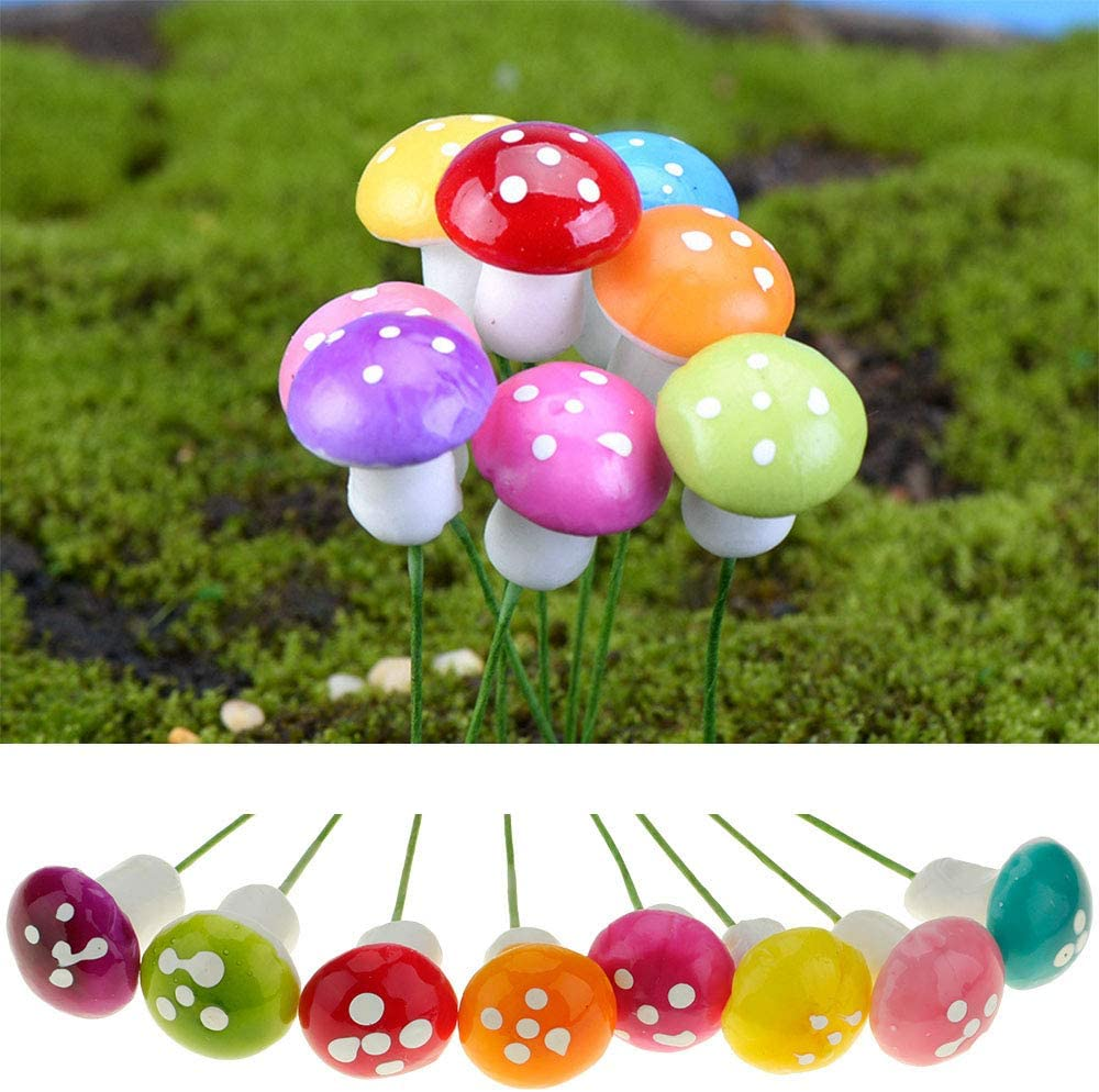 10pcs cartoon miniature ladybird moss micro landscape fairy garden DIY ornaments