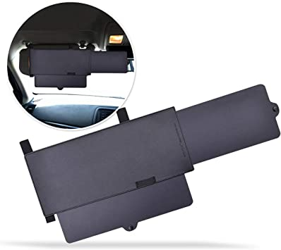 Zone Tech Car Windshield Sun Visor Premium Quality Universal Extendable Sun /& UV Rays Block Visor Extender