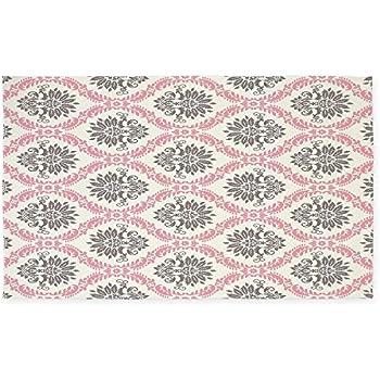 Amazon Com Cafepress Pink Grey Cream Elegant Damask 3
