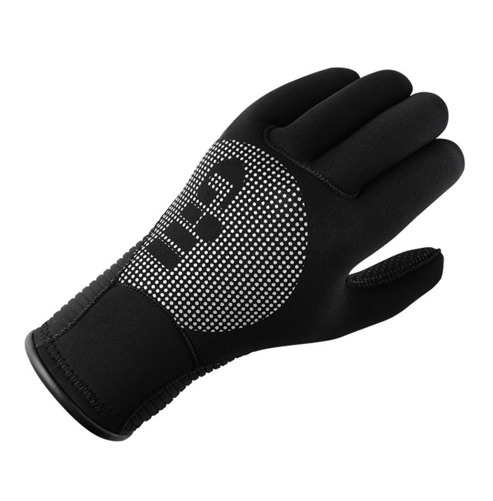 GILL 3MM Neoprene Wetsuit Winter Gloves in Black - Adults Unisex - Liquid Taped Seams Protected Against Water Ingress