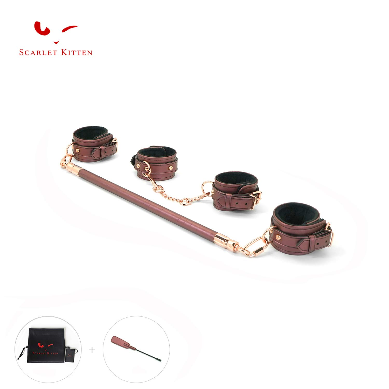 SCARLET KITTEN Wood Bar with Adjustable Straps Kit, Rose by SCARLET KITTEN