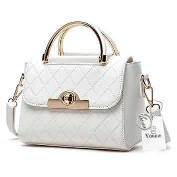Yoome embrague con bolsos de pañales para las mujeres Bolsas elegantes para las señoras de encanto Cartera de monederos - Blanco: Amazon.es: Equipaje