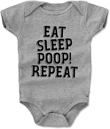 Funny Baby Babies Newborn Kids Gift Bodysuit Eat Sleep Poop Repeat BabyGrow
