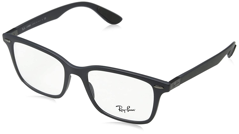 3a9a46eb2b Amazon.com  Ray-Ban 0rx7144 No Polarization Square Prescription Eyewear  Frame Sand Grey 53 mm  Clothing