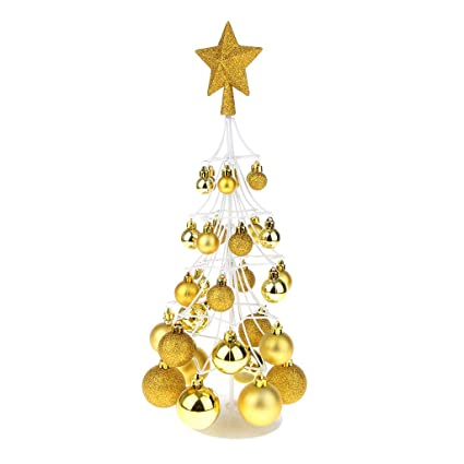 Prettyia Mini Christmas Bauble Tree Ball Xmas Home Table Centerpiece