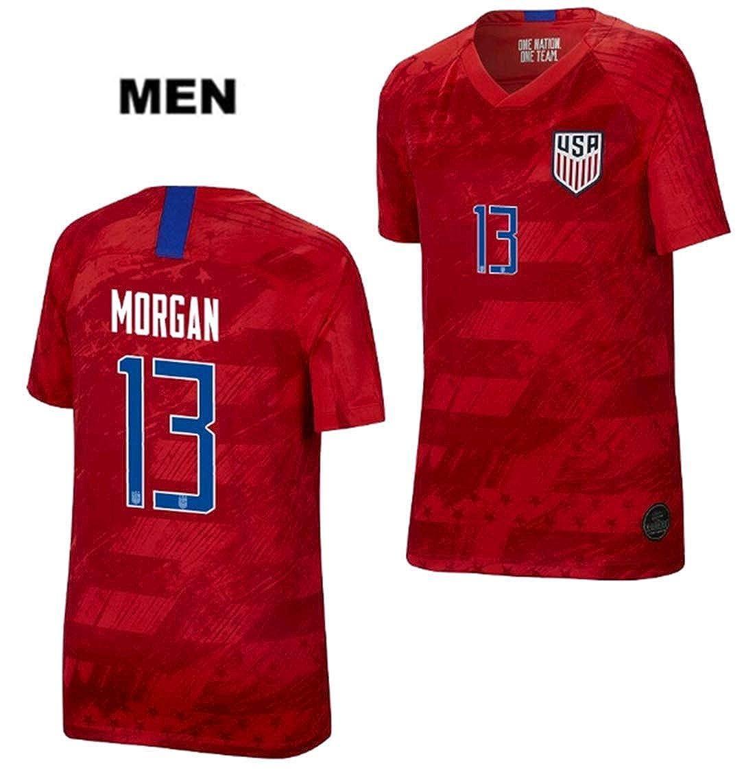 best sneakers c8a8a 1ebc9 LISIMKE Soccer Team USA National Away Alex Morgan#13 Mens ...